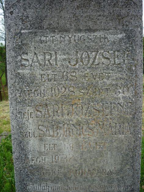 A zalaszántói temetőben apai-anyai ágról ükszüleim sírja
